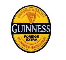 """GUINNESS BEER Logo Jacket Hat T-Shirt Iron on Patches 3X3.5"""""""