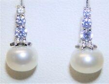 925 Sterling Silver Stud Cultured Freshwater Pearl Drop  Stud Earrings  Bridal