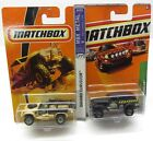 * 1/64 * Matchbox X 2 * Sahara Survivor + Jungle Crawler 4 x 4 Trucks * MIP *