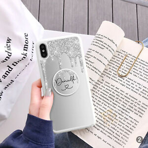 Personalised Phone Case Cover And Finger Holder Stand For Apple Samsung 144-2