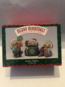 Hallmark Merry Miniature Ornament SANTA'S HELPERS 3-Piece Set