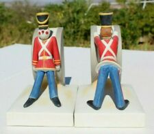 Napoleonic Toy Soldiers Porcelain Drum Bookend Set A2