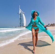 Sexy Luxury Beach Coverup Katarina Beachwear Maxi Dress Light Blue Tiffany