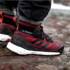 Adidas Mens Terrex Free Hiker GTX Gore-Tex Hiking Shoes Burgundy UK 9.5, 11.5