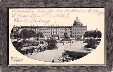 alte Foto-AK mit Litho - Rahmen 1915 @ BERLIN Schloss und Lustgarten @ Feldpost