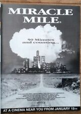 Tangerine Dream music MIRACLE MILE magazine ADVERT/Poster/clipping 11x8 inches