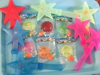 Light Up Star Clappers-7, Light Up Spin Flower Top-9 Bundle Colors May Vary