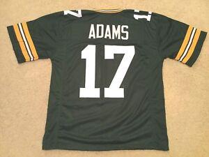 UNSIGNED CUSTOM Sewn Stitched Davante Adams Green Jersey - M, L, XL, 2XL