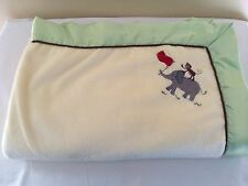 FAO Schwarz Baby Blanket Yellow Green Elephant Monkey Journey Collection