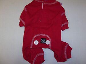 Red Dog Thermal Pajamas XS S XL Pjs new pet Petrageous  jumpsuit Christmas small