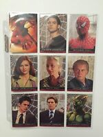 Spider-Man Movie Cards Topps -2002 Complete Set + 3 Chase Sets**RARE MUST HAVE*