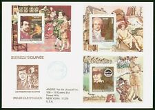 Mayfairstamps Guinea 1984 Souvenir Sheets combo Celebrities First Day Cover wwo9