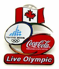 Pin Spilla Olimpiadi Torino 2006 - Coca Cola Flag Canada