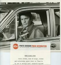 LOUIS JOURDAN IN CAR THE FBI ORIGINAL 1968 ABC TV PHOTO