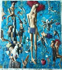 Composition by Dmitry Zenkovich Original Oil on canvas signed by the artist 2000
