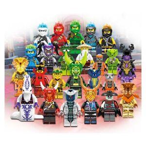Ninjago Lot De 24 Personnages De Construction Haute Qualité Jouet Pour Enfant