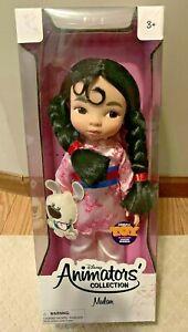 "Disney Animators' Collection 16"" Doll Princess Mulan and dog  (artist Mark Henn)"