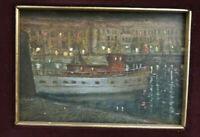 Painting Antique Navy Santa Daisy Ligure Sea Painter Dolphin Gagnor BM39