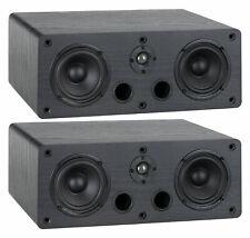 Paar 2-Wege Regal Lautsprecher Stereo Speaker Heimkino Satelliten HiFi Box 40W