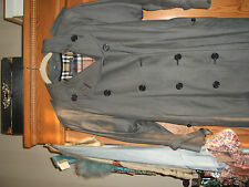 BURBERRY  Women's Vintage Classic Style Trench Coat Grey Size 10/12 Long