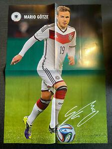 Poster Mario Götze + 05.03.2014 Deutschland - Chile in Stuttgart + Programm