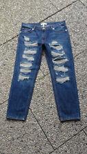 Mango Denim Tees Nancy Jeans mit Löchern Blau Größe 40 Top