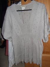 Beige jumper by Carling Deep V Elastic inset at waist raglan sleeve Size 15