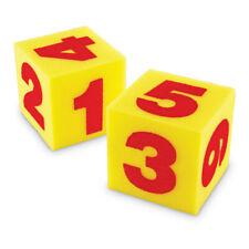 Giant Soft Numeral Cubes, 2/pkg
