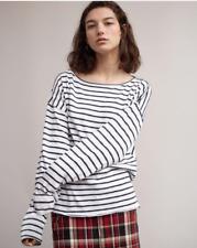 RAG & BONE JEAN Dakota Long Sleeve Navy White Striped Top Size XS NWT NEW $160