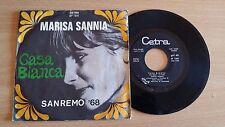 """MARISA SANNIA - CASA BIANCA - 45 GIRI 7"""" - ITALY PRESS"""