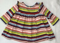 Gap Baby Girls 3-6 Months Crazy Striped Jersey Knit Holiday Tunic Top