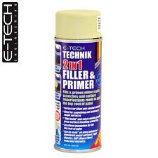 E-Tech Technik 2-in-1 Filler & Primer Car Body Repair Paint Undercoat 400ml Can