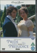 CLASSIC DRAMA COLLECTION - PRIDE and PREJUDICE PART 1 EPS 1-3 BBC NEW SEALED