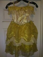 Princess Belle Deluxe Dress/gloves, Disney, Beauty and the Beast, Xs (3-4), New