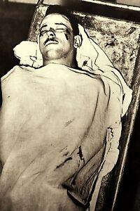 """1934 John DILLINGER Post Mortem True Crime Public Enemy 4""""x6"""" Reprint Photo D7"""
