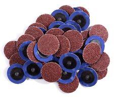 25PCS 3in Aluminum Oxide Roloc Sanding Disc 36 Grit R Type Roll Lock Discs