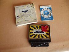 Fiat Disco Orario Magnetico + penna notes porta monete vintage x 126 127 128 131