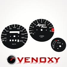 Honda XRV 750 Africa Twin RD04 89-92 UNIQUE Gauge Faces BLACK Speedo Dial Clock