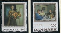 Denmark Sc 1061-62 1996 Paintings stamp set mint NH
