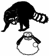 Coon Trapped #2 Decal, Raccoon Trapping Sticker Vinyl Graphic for Windows & more