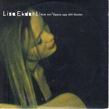 LISA EKDAHL - VEM VET - ÖPPNA UPP DITT FÖNSTER - CD SINGLE CARDSLEEVE 2T1994