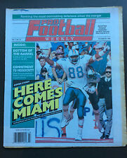 PRO FOOTBALL WEEKLY October 25th 1992 Keith Jackson Miami Dolphins Cover NFL