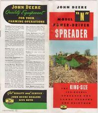 """John Deere Model """"N"""" Power-Driver Spreader, King Sized 120-Bushel Spreader, 1954"""