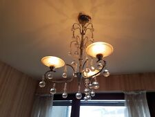 Suspension Chandelier Vintage Chrome Glass Design Lamp