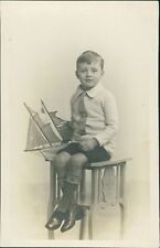 "Young Boy Toy Model Ship ""From Freda & Reggie""  by J H German  Ri.520"