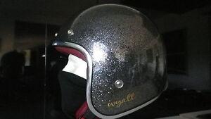 Helmet Wyatt Vintage Motorcycle Scooter Helmet Size L