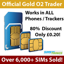 O2 02 Sim Card Pay As You Go for 2G GPS Tracker Devices GSM Car Pet Smart Watch