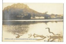 (0567) PHOTO P/C  DOUGLAS WYOMING CRYSTAL LAKE & EAGLE PEAK RPPC