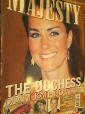 Majesty UK Magazine V33 #11-Kate & William In South Seas/Earl & Countess