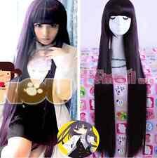 US Stock Shirakiin Ririchiyo 100cm Straight Hair Dark Purple Cosplay Wigs RW140